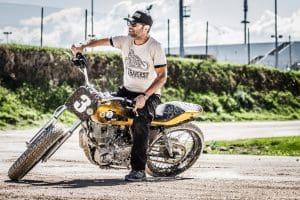 T-shirt Di Traverso in moto