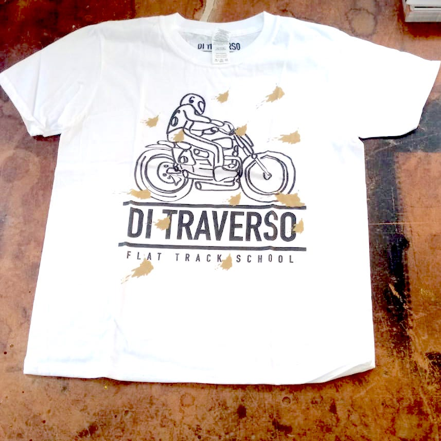 T-shirt Di Traverso Bambino Bianca