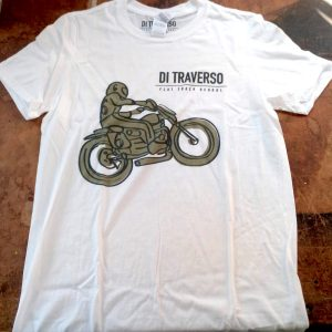 T-shirt Di Traverso White Bambino