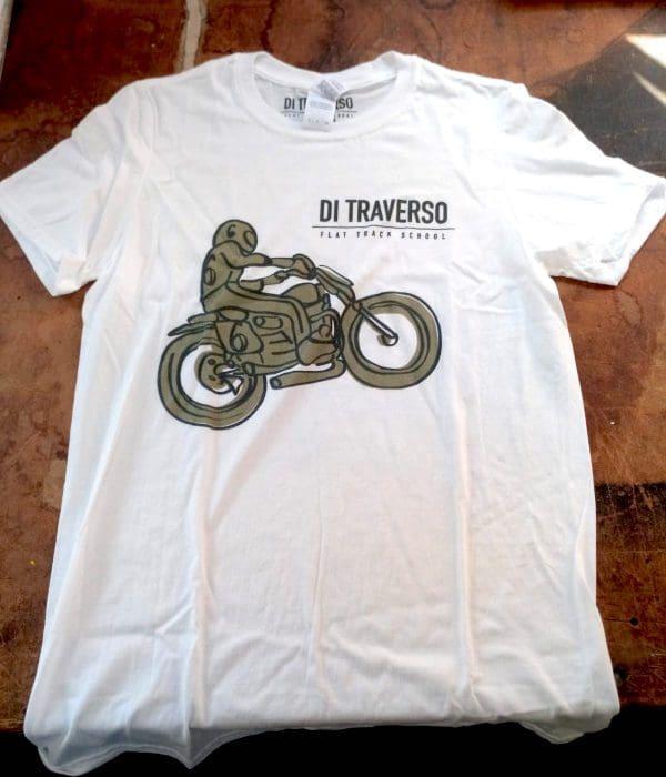 T-shirt Di Traverso White Bambino