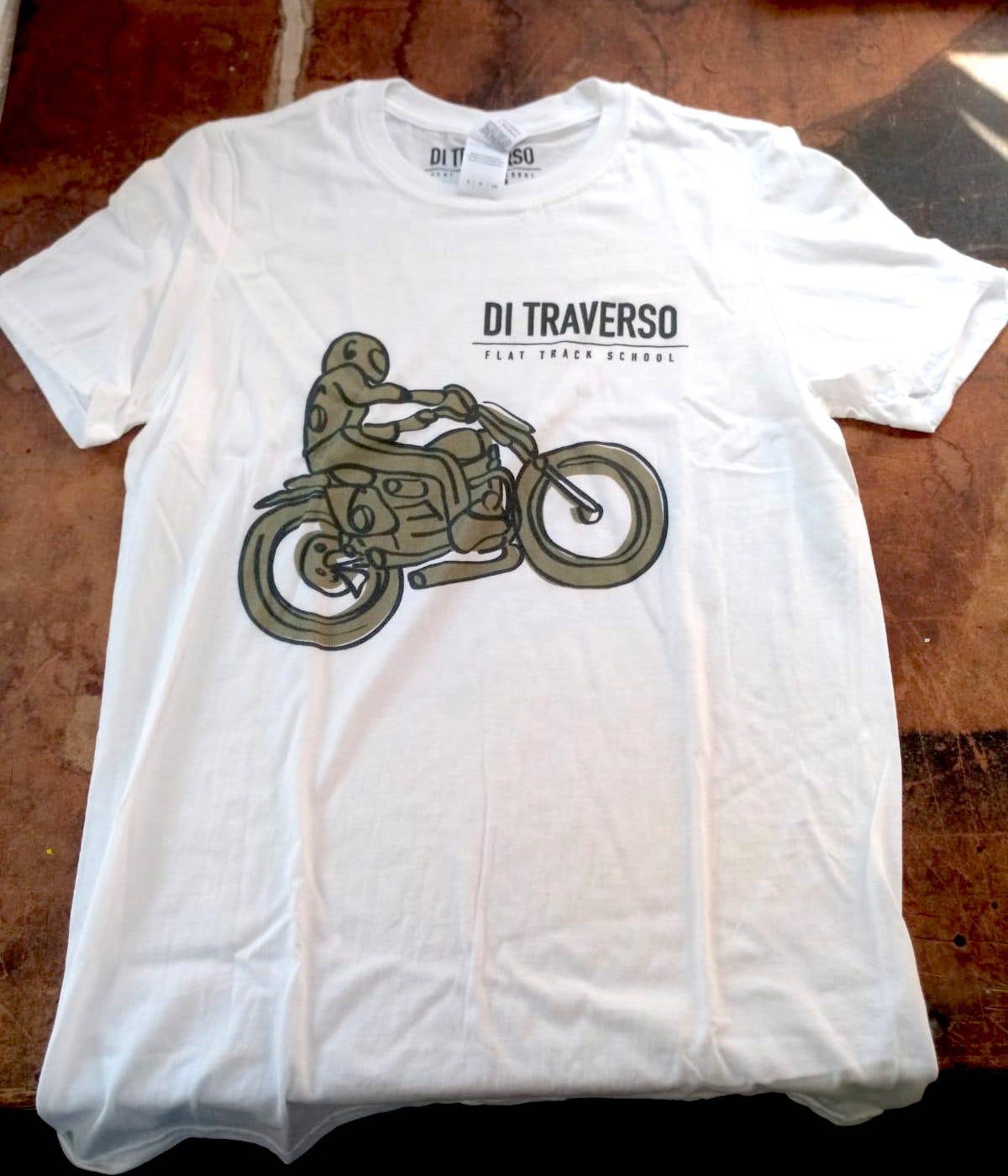 T-shirt Di Traverso Uomo White